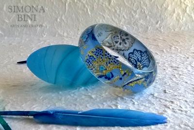 Bracciale azzurro – Resin blue bracelet