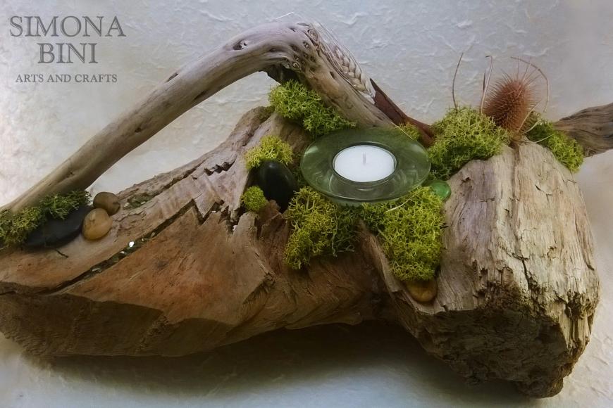 Legni dal mare – Portacandela con spiga – Candle holder with ear