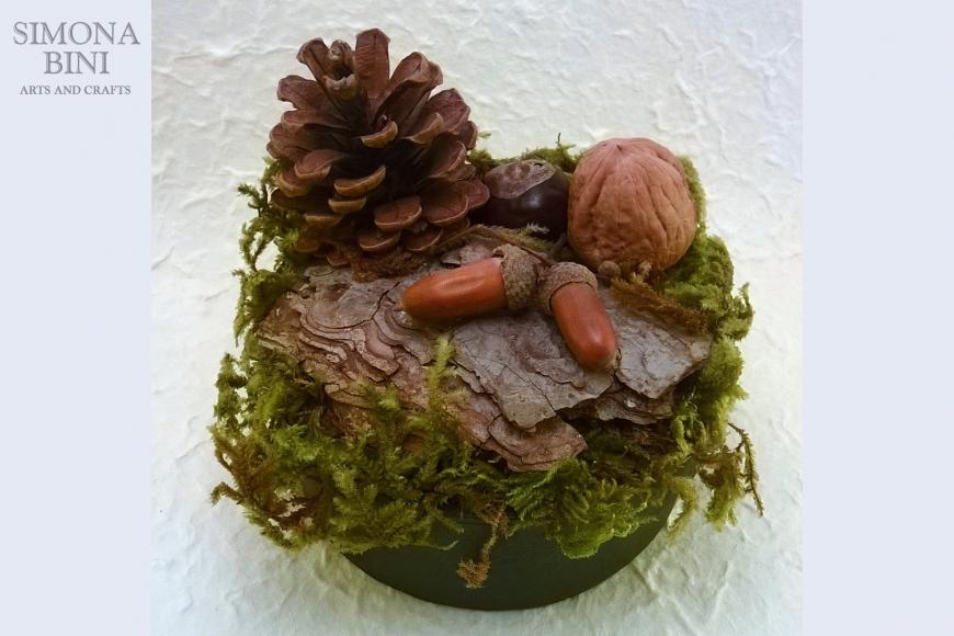 Scatola autunnale con pigna – Autumn box with pine cone