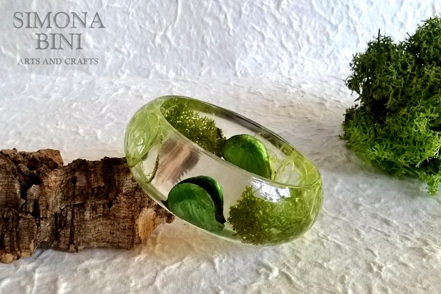 Bracciale con muschio – Bracelet with moss