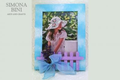 Cornice con lavanda e fiocco –  Frame with lavender and bow