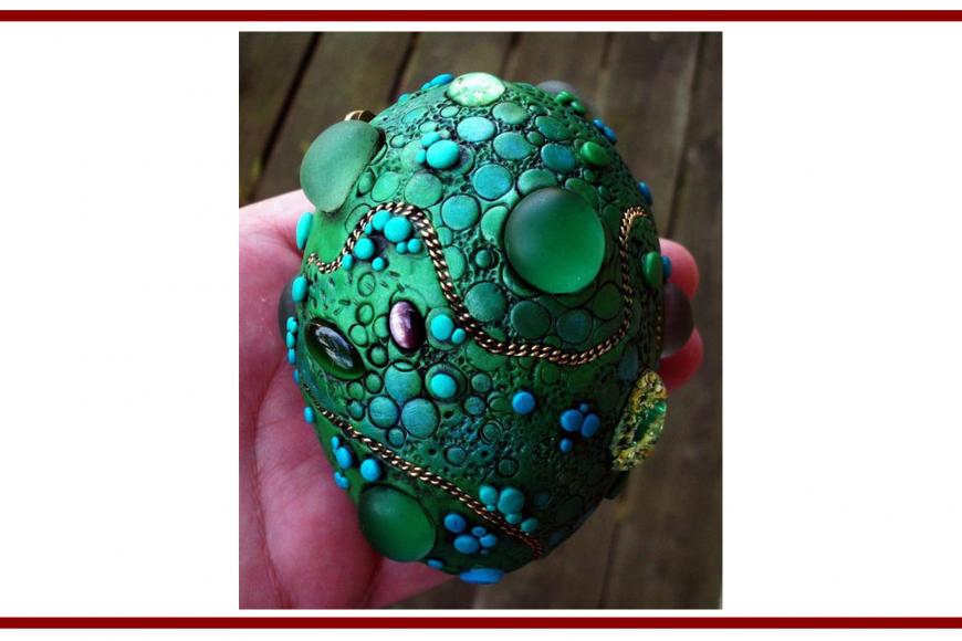 "Idee dal web per creare con il Polymer Clay ""Uovo di drago"" –  Ideas from the web to create with the Polymer Clay ""Dragon Egg"""