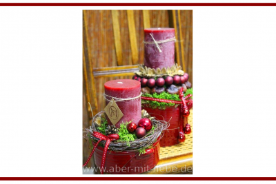 Idee dal web per una candela natalizia –  Ideas from the web for a Christmas candle