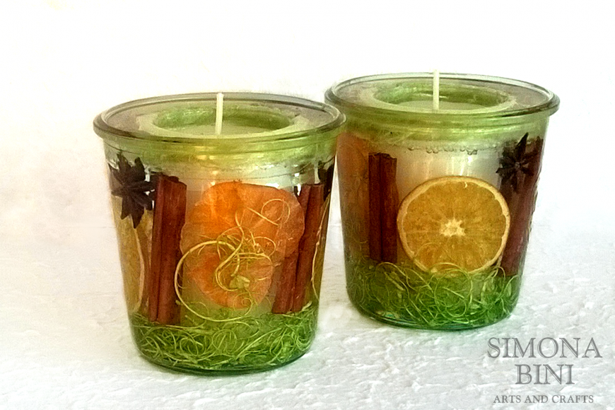 Candele con resina – Candles with resin