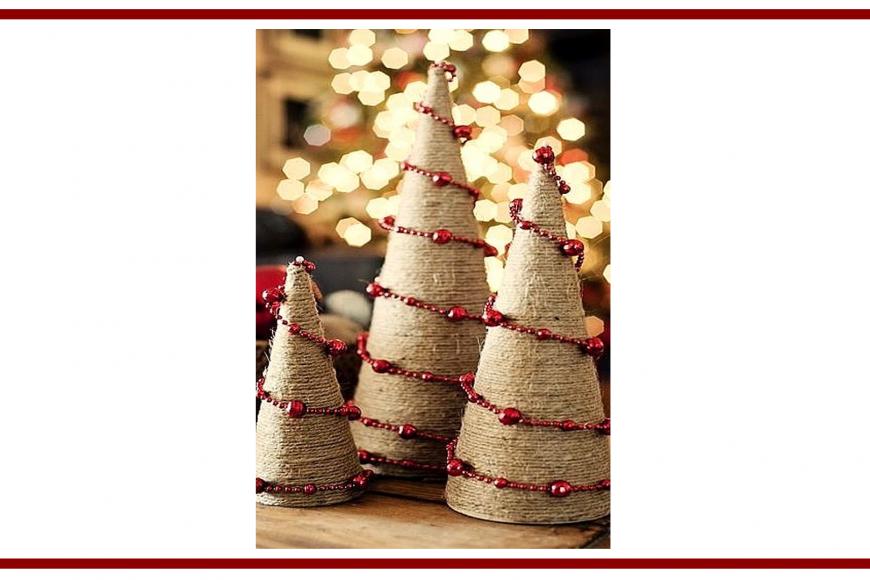 Idee dal web per degli alberelli di Natale – Ideas from the web for Christmas trees