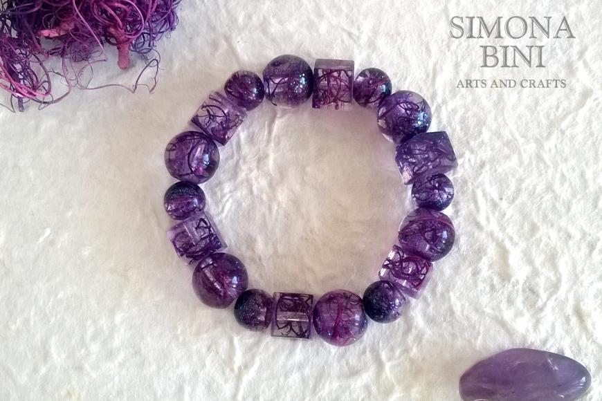 Bracciale in resina viola – Violet resin bracelet