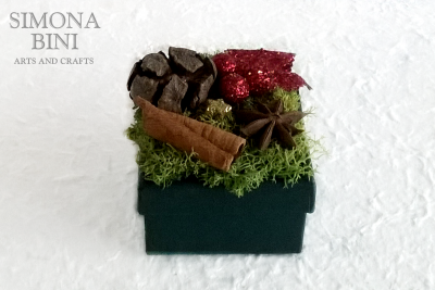 Scatolina natalizia riciclata rossa – Red recycled Christmas box