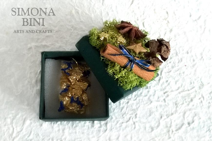 Scatolina natalizia riciclata blu – Blue recycled Christmas box