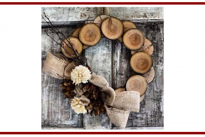 Idee dal web per una ghirlanda invernale –  Ideas from the web for a winter wreath