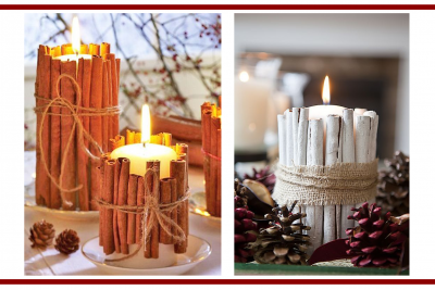 Idee dal web per candele invernali – Ideas from the web for winter candles