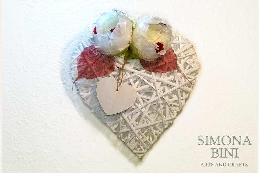 Ghirlanda per San Valentino – Wreath for Valentine's Day
