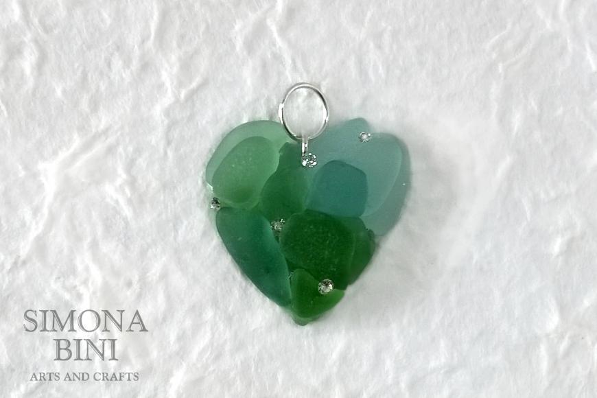 Ciondolo di vetro per San Valentino –  Glass pendant for Valentine's Day