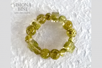 Bracciale in resina con muschio – Resin bracelet with moss