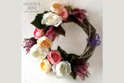 Ghirlanda primaverile anche per Pasqua – Spring wreath for Easter