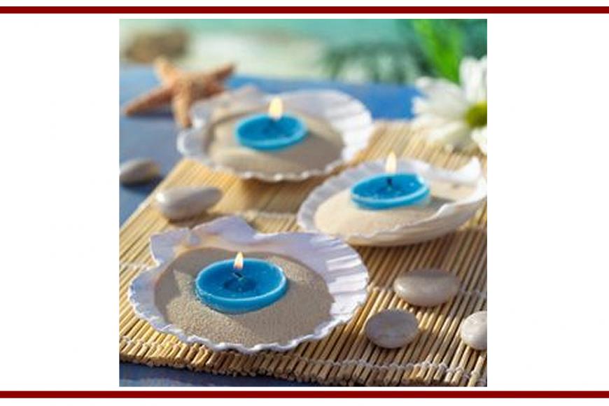 Idee dal web per una candela in una conchiglia – Ideas from the web for a candle in a shell
