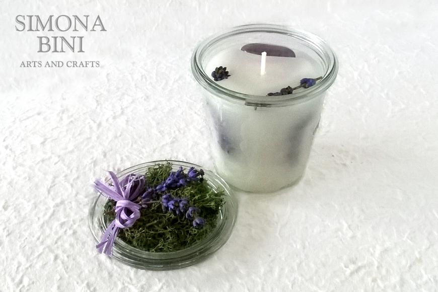 Candela con lavanda – Candle with lavender