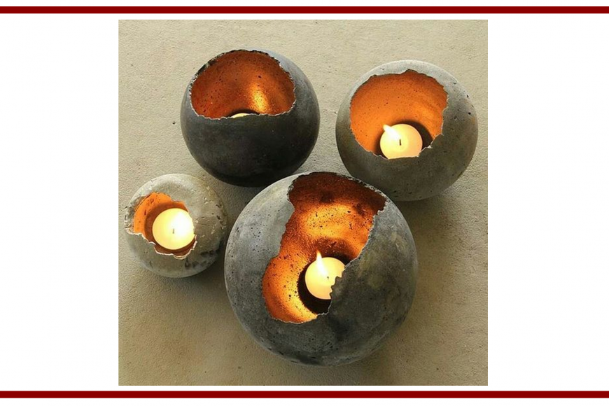 Idee dal web per una candela con cemento – Ideas from the web for a candle