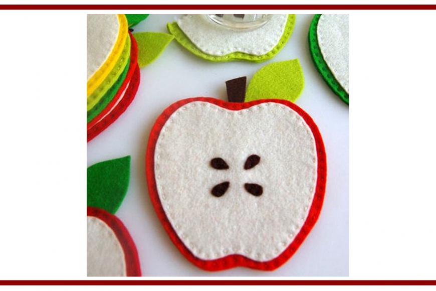Idee dal web per un sottobicchiere a forma di mela – Ideas from the web