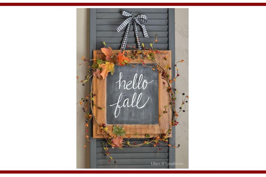 Idee dal web per l'autunno con una lavagna – Ideas from the web