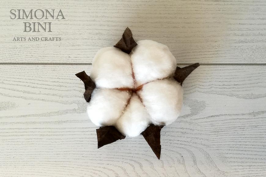 Finto fiore di cotone – Fake cotton flower