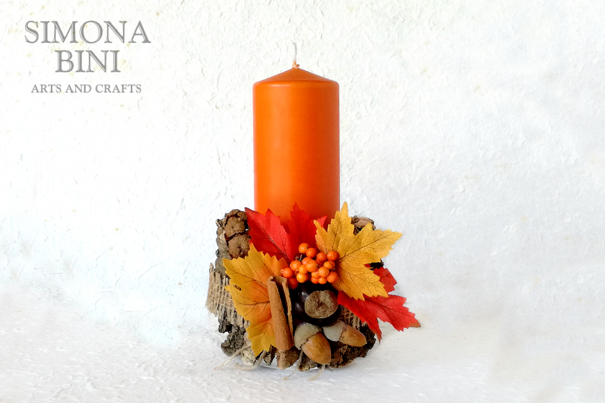 Candela con corteccia – Candle with bark