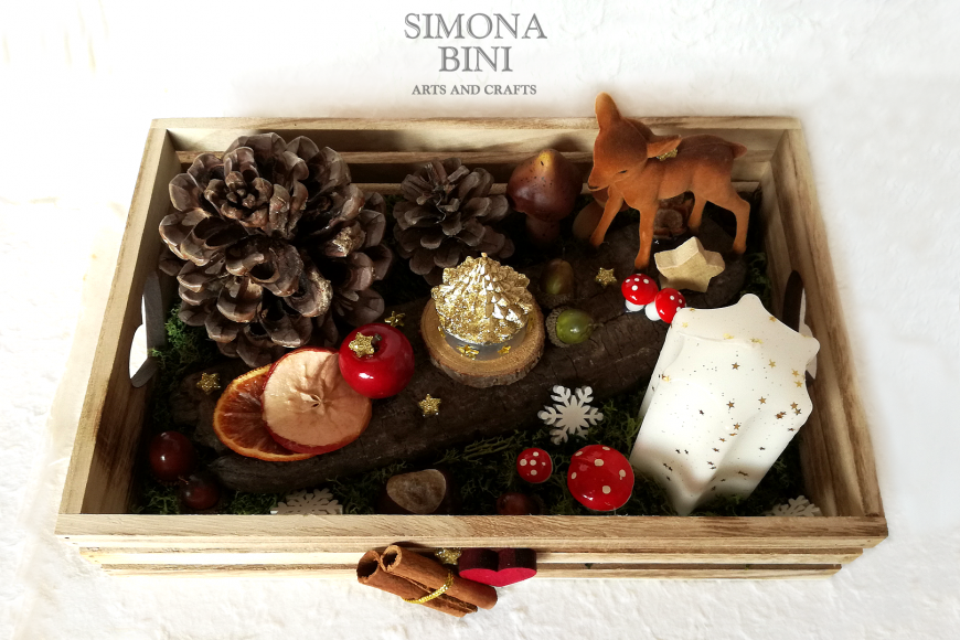 Un centrotavola per Natale con cerbiatto – A Christmas centerpiece with fawn