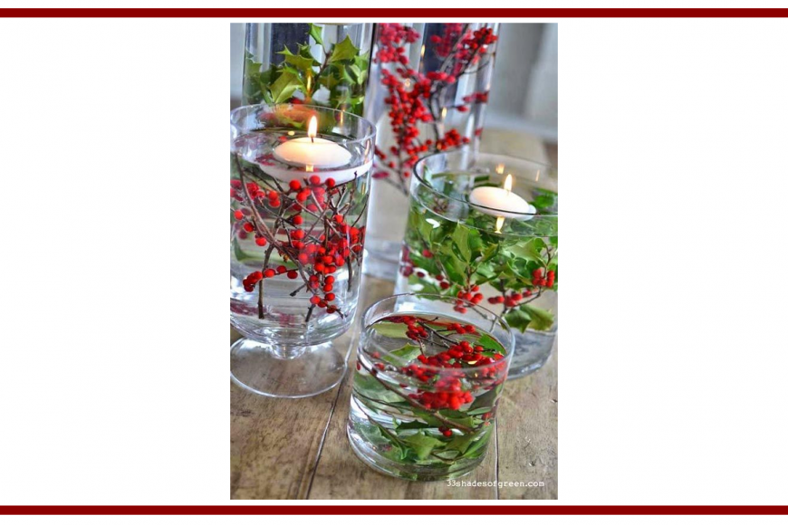 Idee dal web per una candela natalizia – Ideas from the web