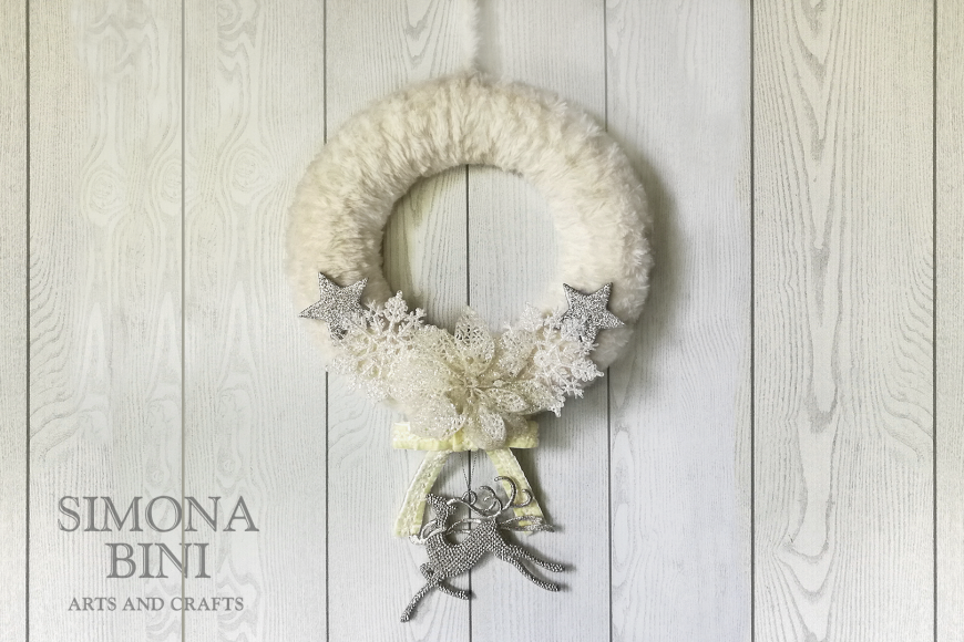 Una bianca ghirlanda di Natale – White Christma's wreath