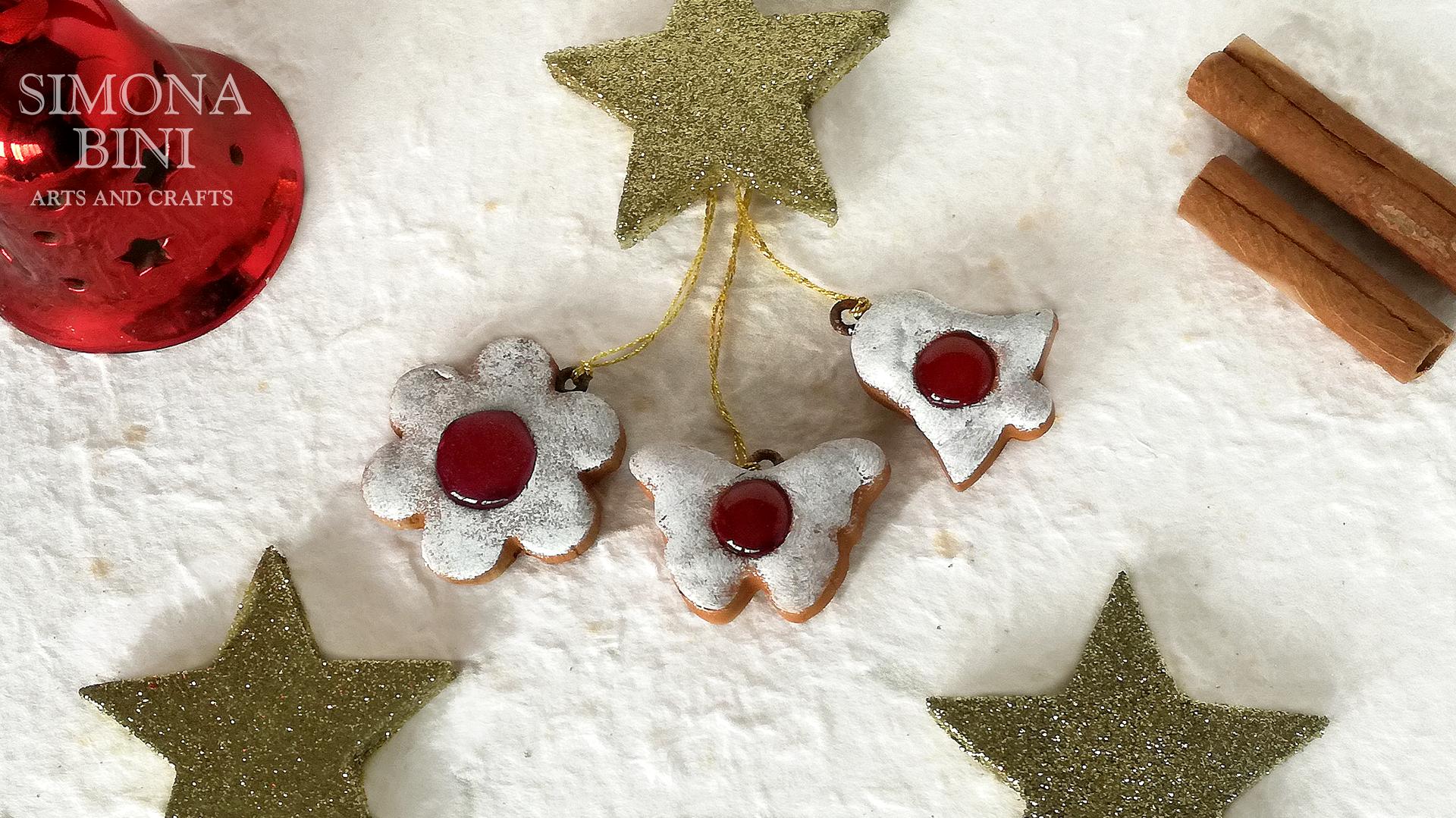 Biscotti Finti Per Albero Di Natale.Finti Biscotti Da Appendere All Albero Di Natale Fake Cookies To Hang On The Christmas Tree Simona Bini