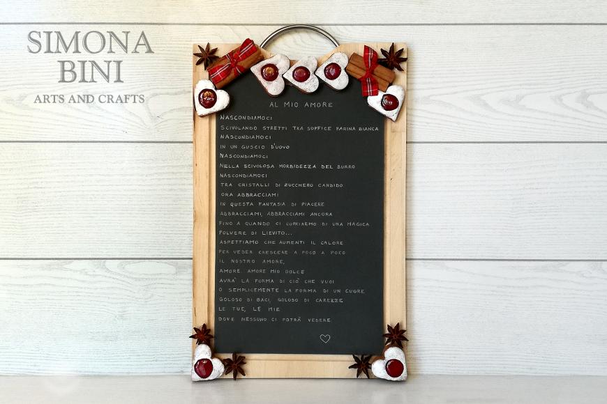 """Un tagliere trasformato in lavagnetta sarà un regalo molto """"poetico"""" – A cutting board turned into a slate will be a very """"poetic"""" gift"""