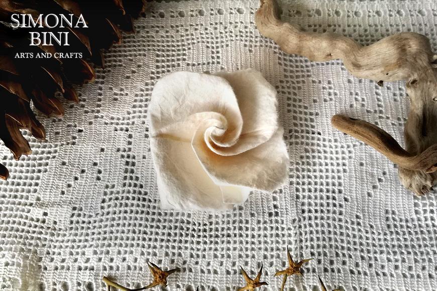Rosa shabby chic origami – Shabby chic rose origami