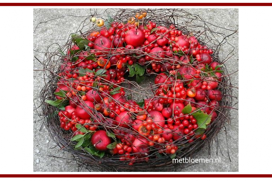 Idee dal web per una ghirlanda invernale rossa  – Ideas from the web
