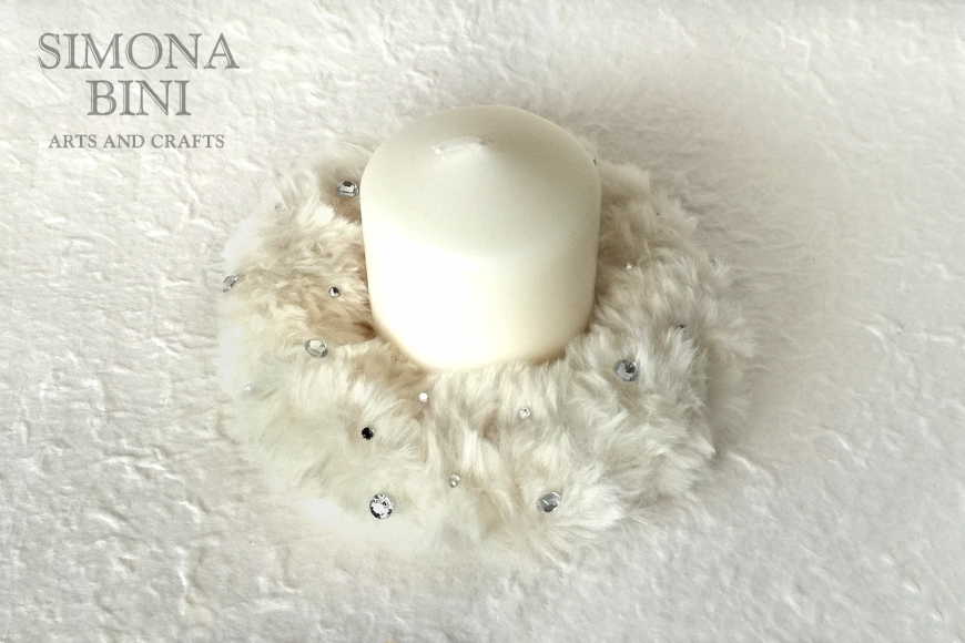 Un porta candela bianco e morbido – A white and soft candle holder