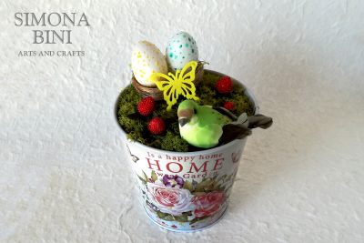 Vasetto di Pasqua in verde –  Green Easter pot