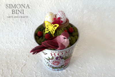 Vasetto di Pasqua in rosa –  Pink Easter pot