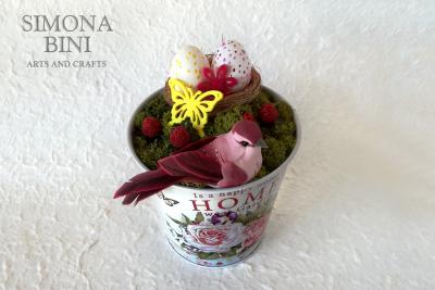 Vasetto di Pasqua in rosa –  Pink Easter pot