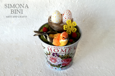 Vasetto di Pasqua in arancione –  Orange Easter pot