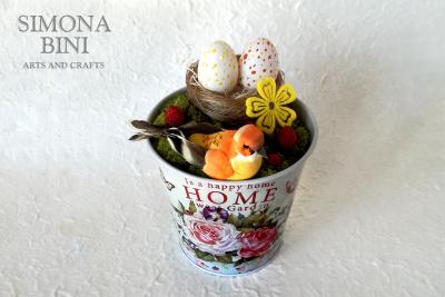 Vasetto di Pasqua in arancione –  Orange Easter pot