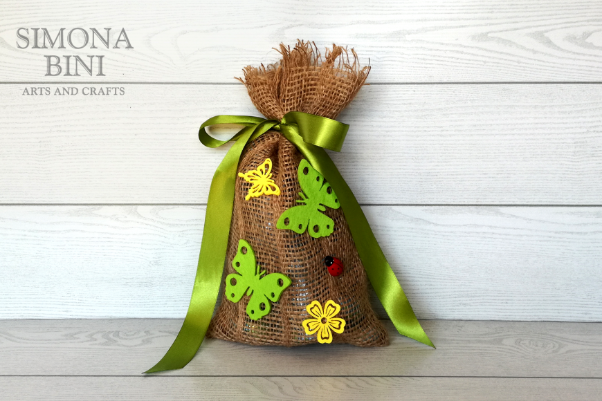 Sacchetto di Pasqua in verde –  Green Easter bag