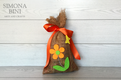 Sacchetto di Pasqua in arancione –  Orange Easter bag