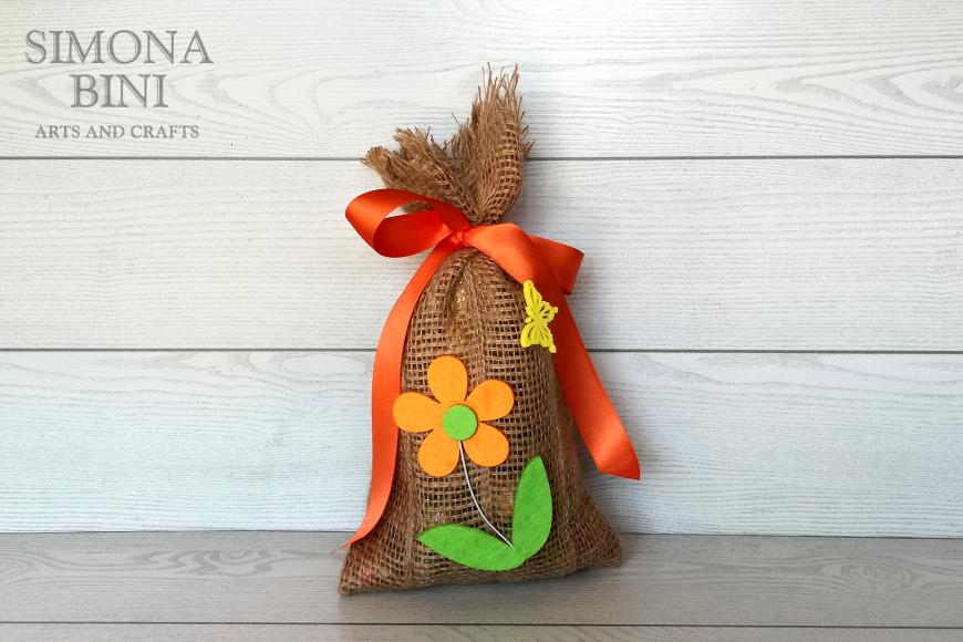 Sacchetto di Pasqua in arancione –  Orange Easter bag
