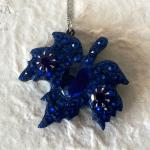 Ciondolo con foglia in legno blu – Wood pendant