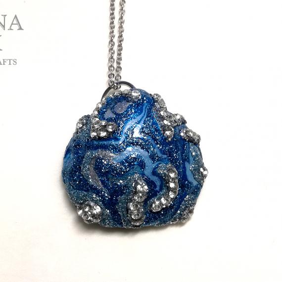 Ciondolo conchiglia argento e blu - TUTORIAL