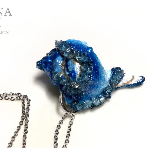 Ciondolo conchiglia azzurro blu – TUTORIAL