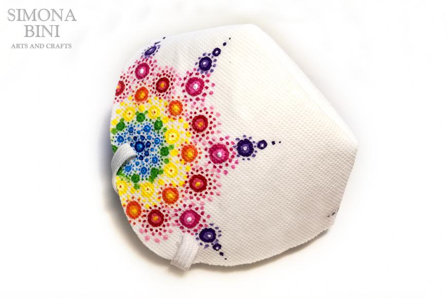 Come decorare una mascherina con la tecnica dei mandala –  Decorated mask