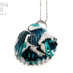 Conchiglia reginella verde acqua – Green water shell pendant