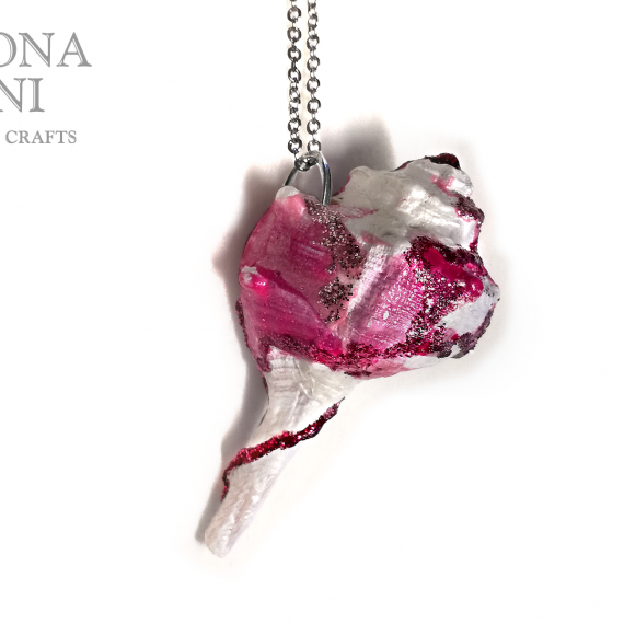 Ciondolo conchiglia rosa fucsia – TUTORIAL