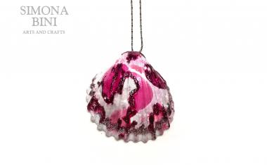 Conchiglia reginella rosa – Pink shell pendant