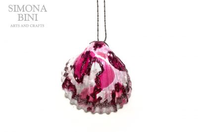 Conchiglia reginella rosa – Pink shell pendant