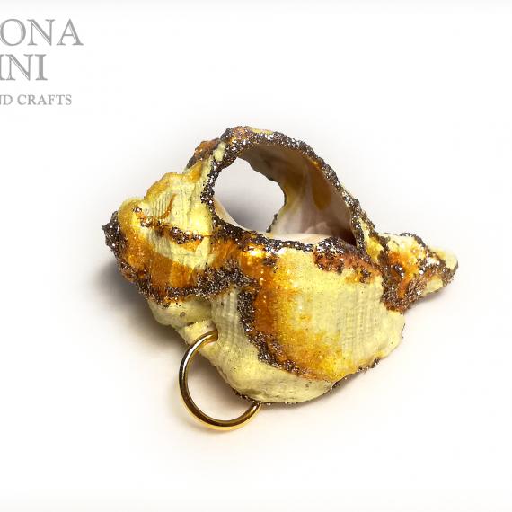 Ciondolo di conchiglia giallo – TUTORIAL